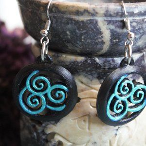 Earring & bookmark-Airbending Avatar